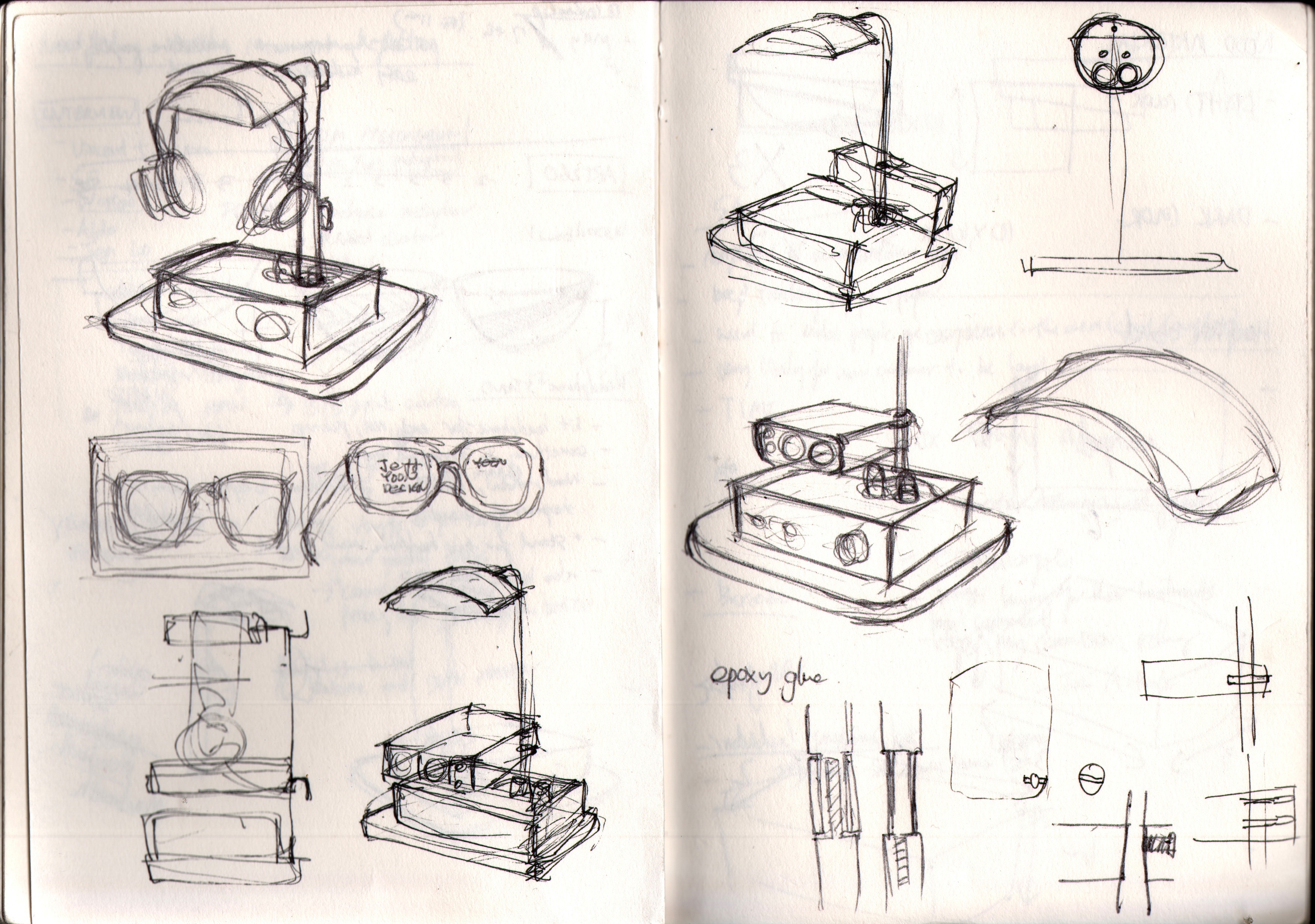 Headphone Stand Big Glasses Design Studio